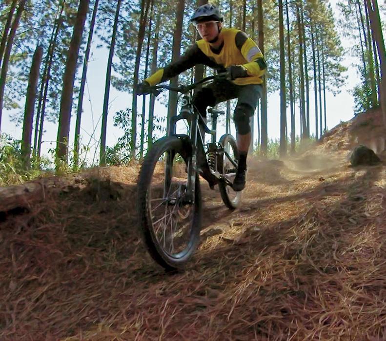 Mountain biking from Heuglins